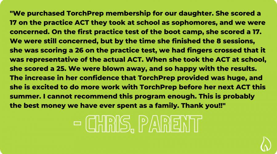 TorchPrep Testimonials